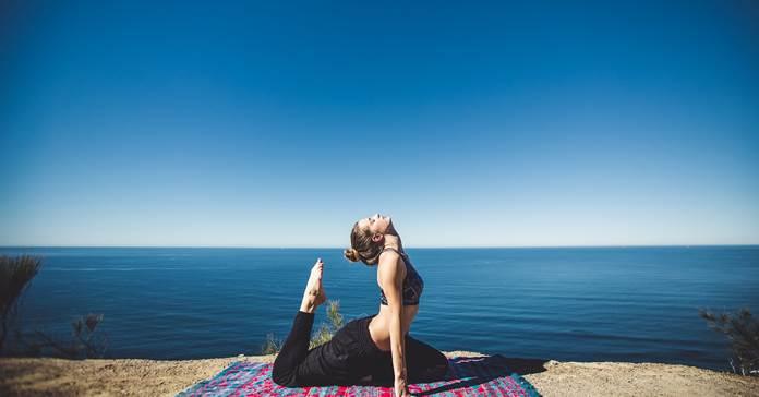 vežbanje joga more